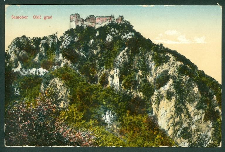 Razglednica sa slikom Okić grada iz nepoznate godine