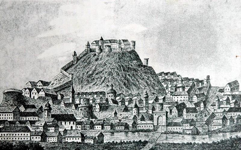 Grafika grada Požege, oko 1700. godine