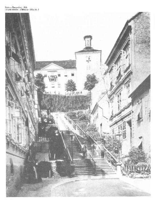 Stubište u Tomićevoj 1886.