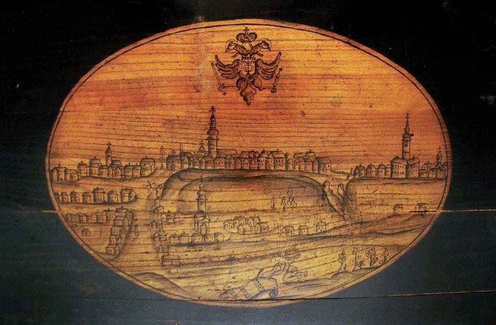 Križevci oko 1755. godine